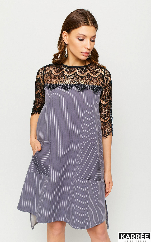Платье Бертони, Серый - фото 3