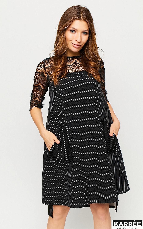 Платье Бертони, Черный - фото 3