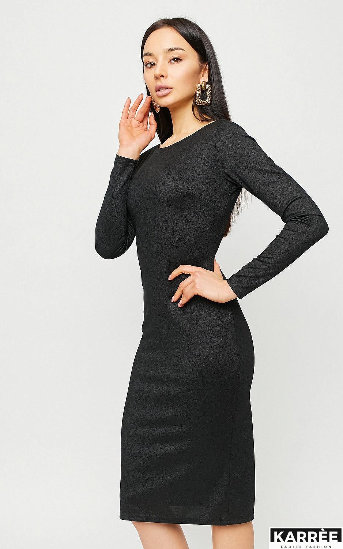 Платье Сола, Черный - фото 3