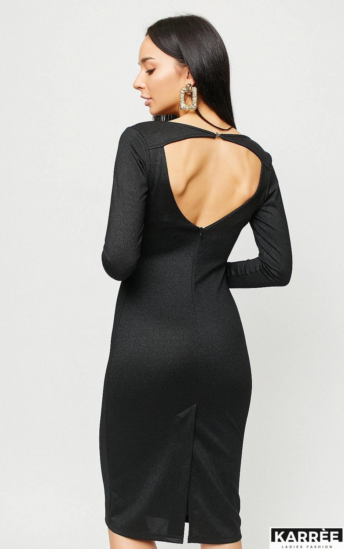 Платье Сола, Черный - фото 4