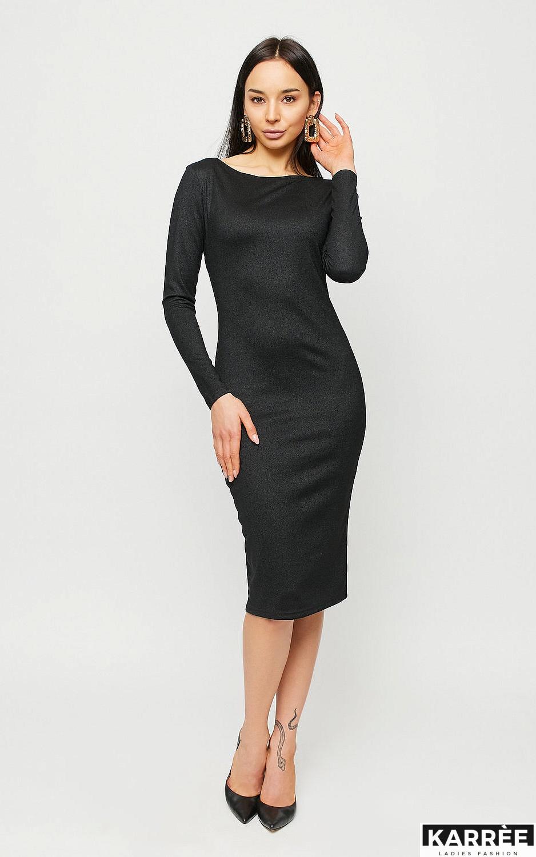 Платье Сола, Черный - фото 5