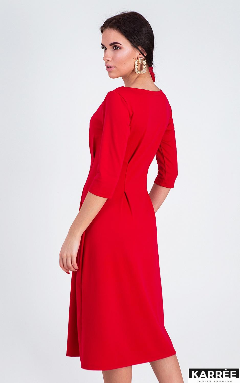 Платье Каен, Красный