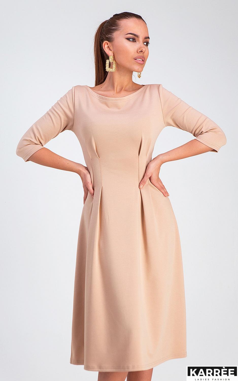 Платье Каен, Бежевый - фото 2