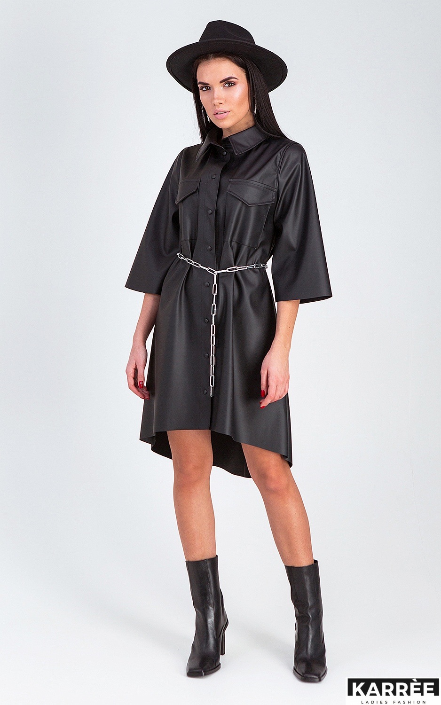 Платье Сиена, Черный - фото 2