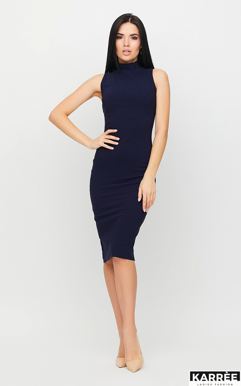 Платье Одри, Темно-синий - фото 3
