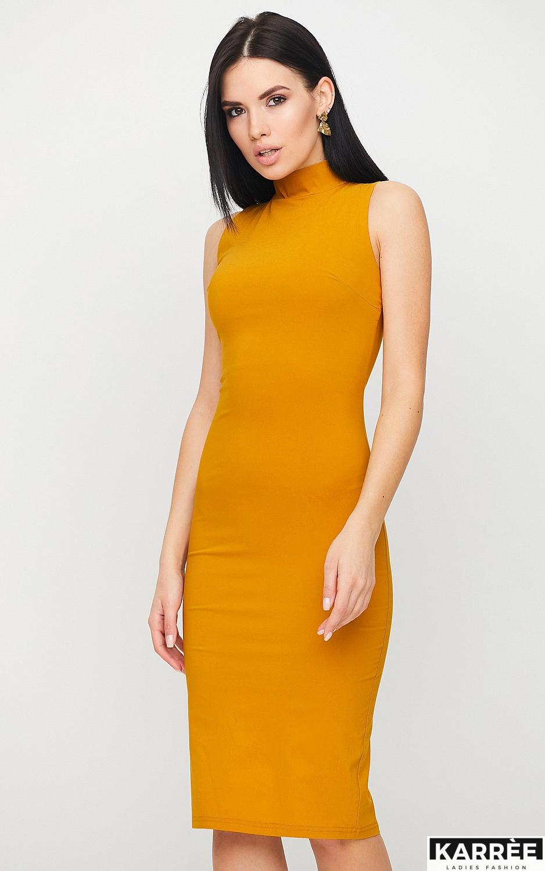 Платье Одри, Горчичный - фото 3