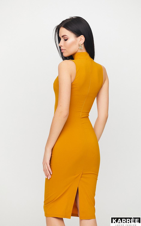 Платье Одри, Горчичный - фото 4