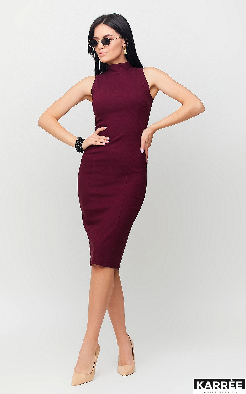 Платье Илона, Марсала - фото 3