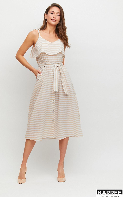 Платье Бри, Бежевый - фото 1