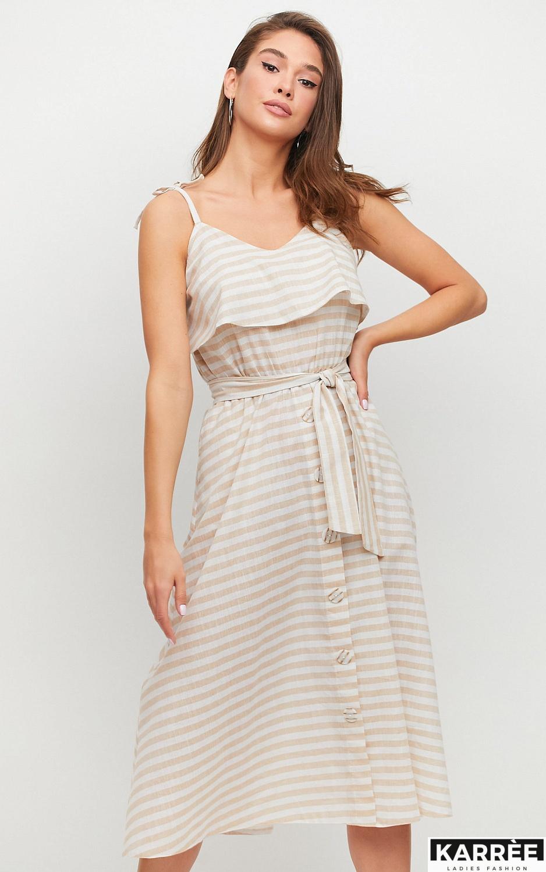 Платье Бри, Бежевый - фото 2