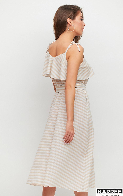Платье Бри, Бежевый - фото 3