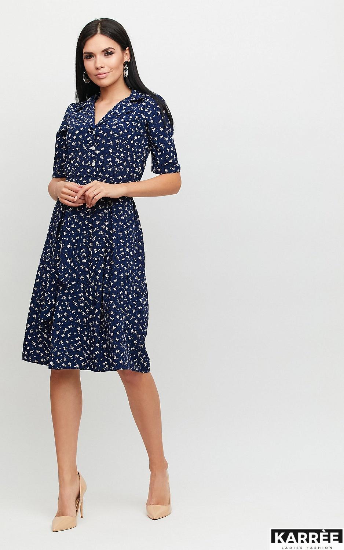 Платье Монила, Темно-синий - фото 3