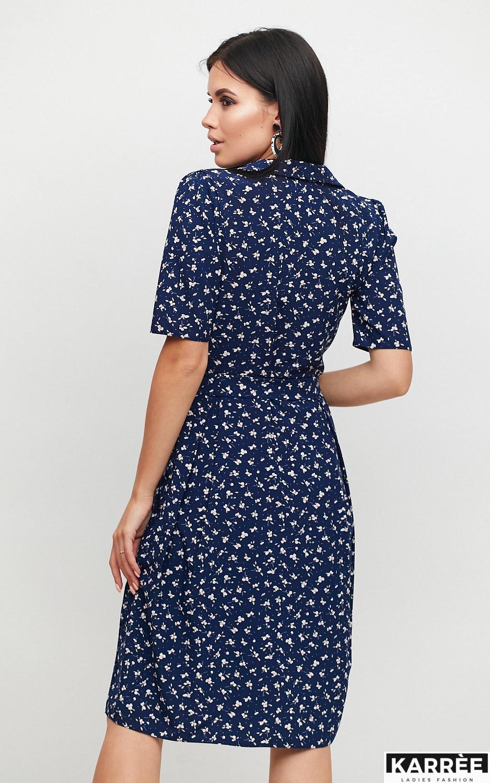 Платье Монила, Темно-синий - фото 4
