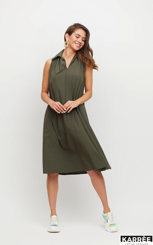 Платье Сирена, Хаки - фото 3