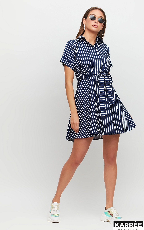Платье Крис, Темно-синий - фото 2