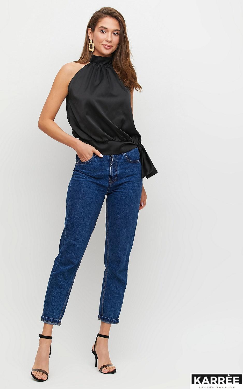 Блуза Альба, Черный - фото 5