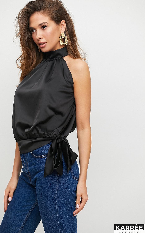 Блуза Альба, Черный - фото 3