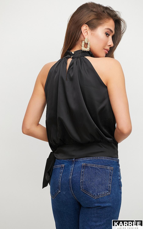 Блуза Альба, Черный - фото 4