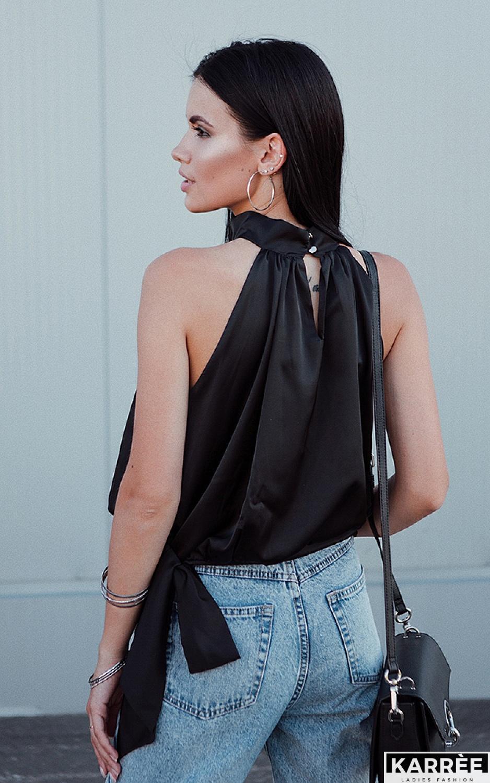 Блуза Альба, Черный - фото 2