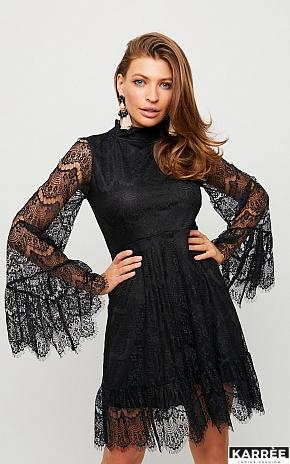 Платье Росси, Черный на черной основе - фото 1