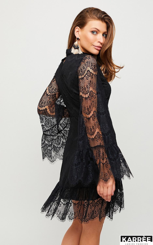Платье Росси, Черный на черной основе