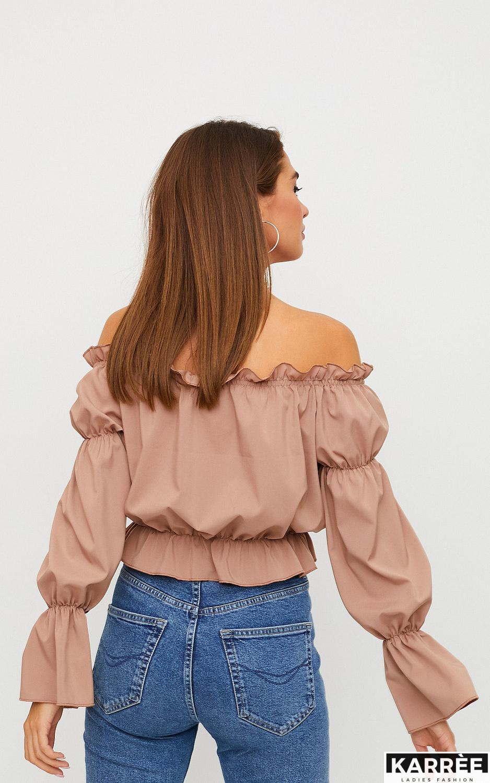 Блуза Луиза, Мокко - фото 2