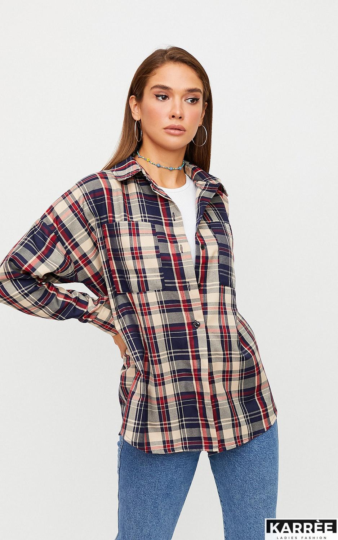 Рубашка Матрикс, Бежевый - фото 4