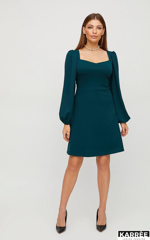 Платье Пальмира, Темно-зеленый - фото 3
