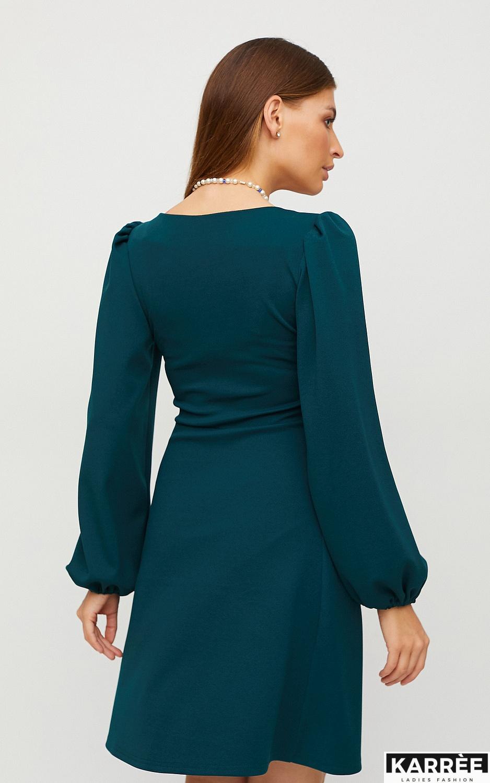 Платье Пальмира, Темно-зеленый - фото 2