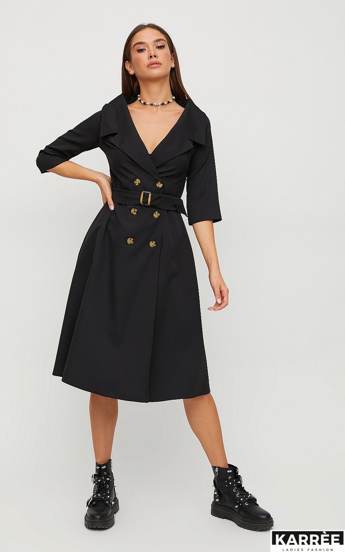 Платье Алмея, Черный - фото 4
