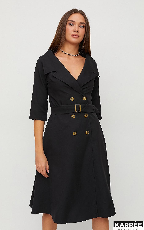 Платье Алмея, Черный - фото 2