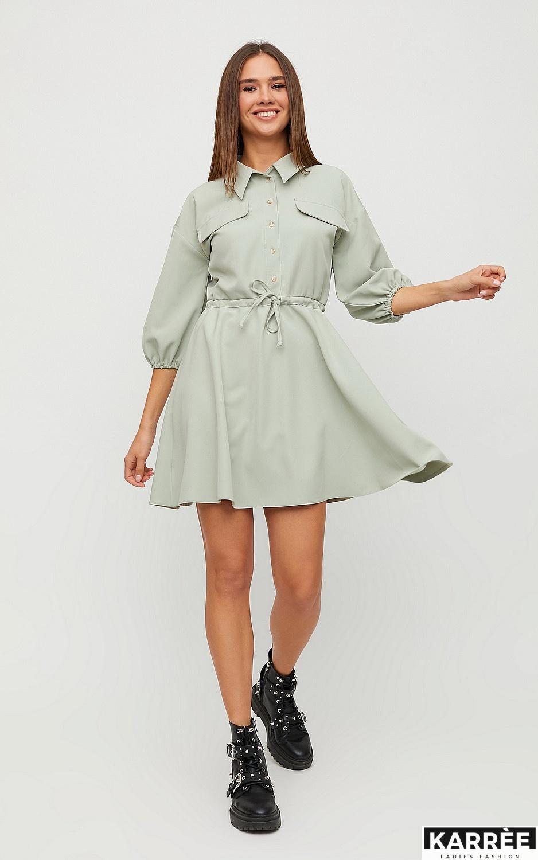 Платье Микадо, Фисташковый - фото 6