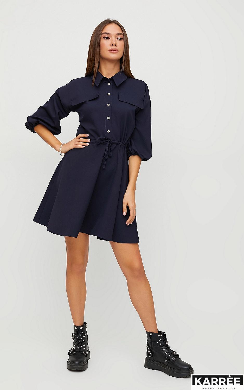Платье Микадо, Темно-синий - фото 1