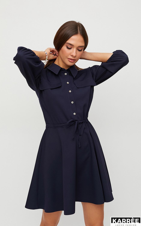 Платье Микадо, Темно-синий - фото 2