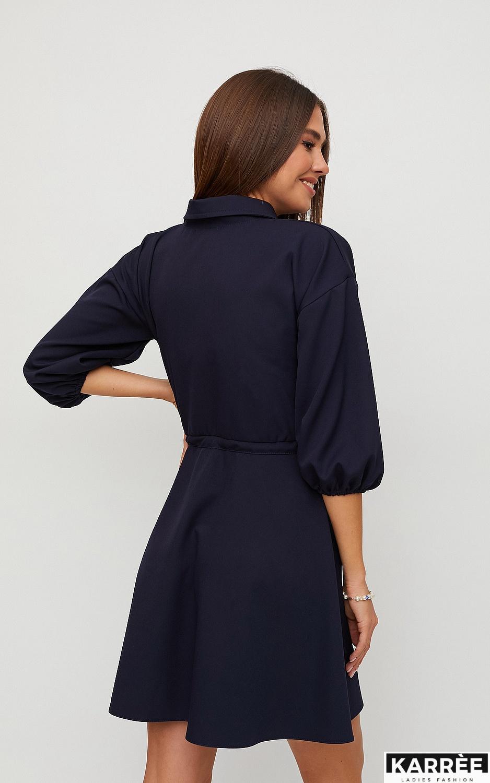 Платье Микадо, Темно-синий - фото 3