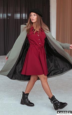 Платье Микадо, Терракотовый - фото 1