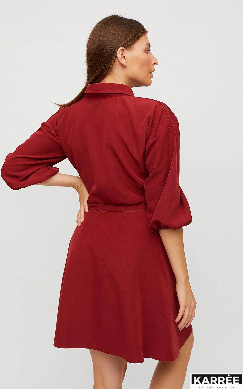 Платье Микадо, Терракотовый - фото 6