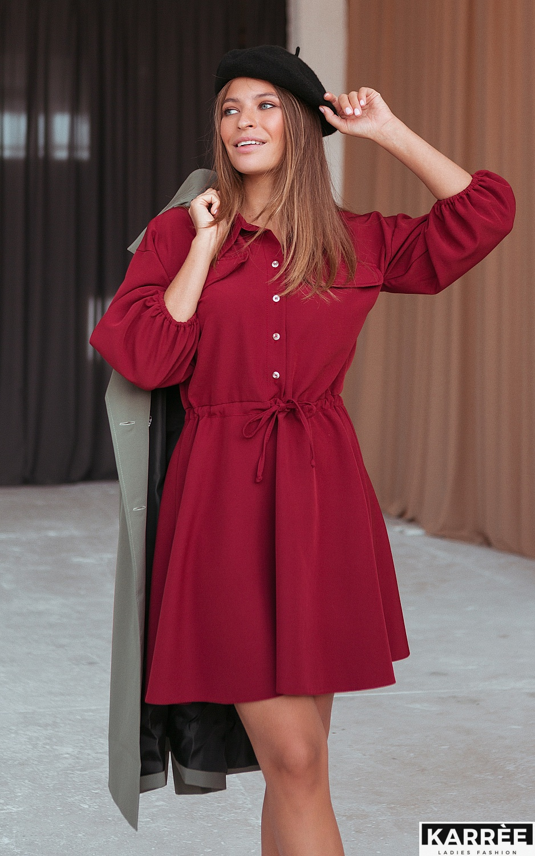 Платье Микадо, Терракотовый - фото 2