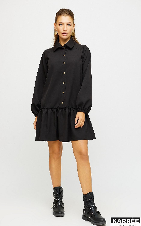 Платье Касио, Черный - фото 4