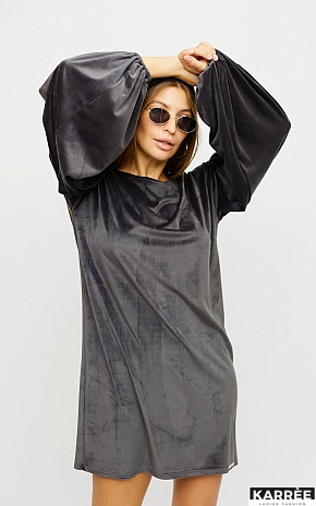 Платье Нидия, Серый - фото 1