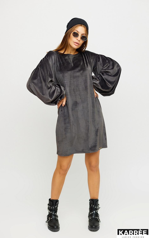Платье Нидия, Серый - фото 2