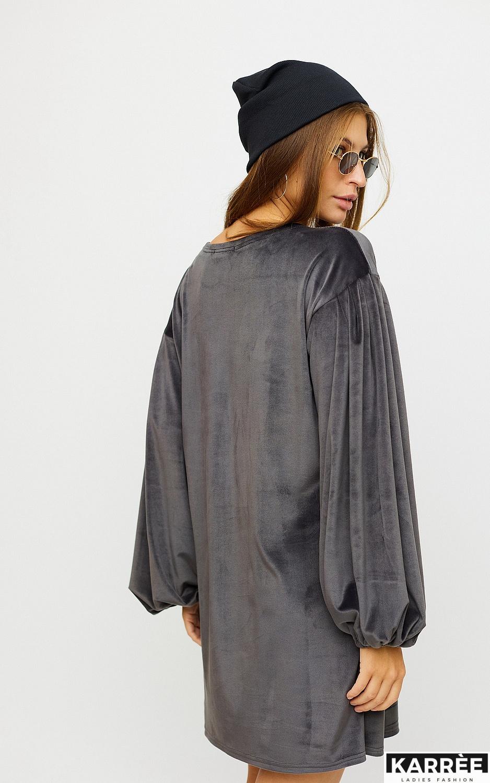 Платье Нидия, Серый - фото 3