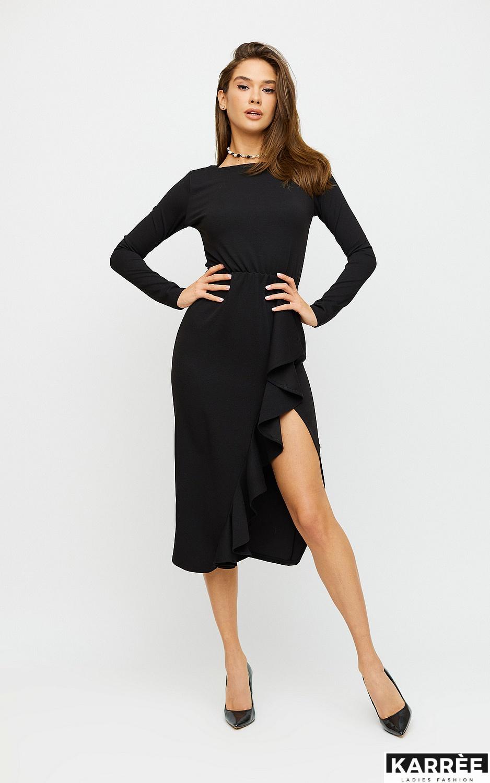 Платье Кармен, Черный - фото 3