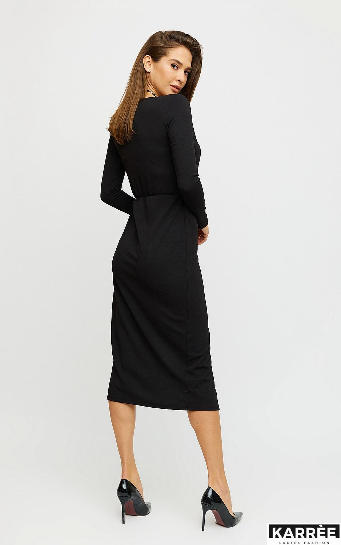 Платье Кармен, Черный - фото 4