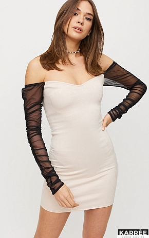 Платье Кармин, Жемчужный - фото 1