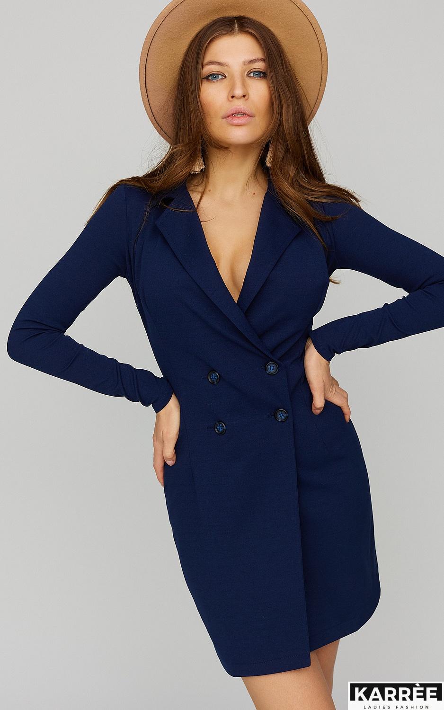 Платье Лиора, Темно-синий - фото 2