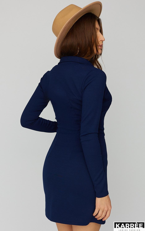 Платье Лиора, Темно-синий - фото 4