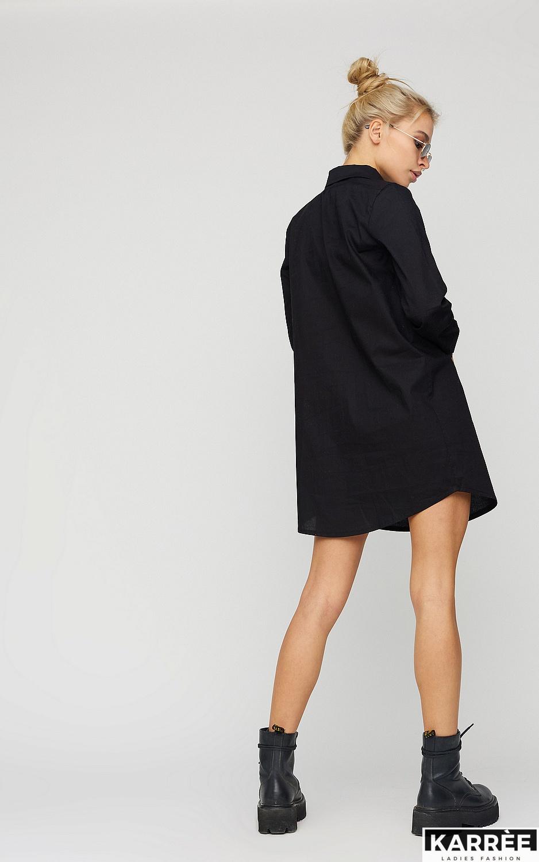 Платье-рубашка Джуди, Черный - фото 2