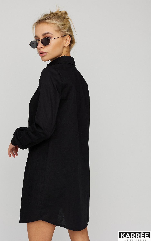Платье-рубашка Джуди, Черный - фото 3