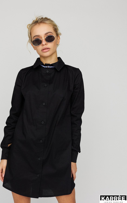 Платье-рубашка Джуди, Черный - фото 4